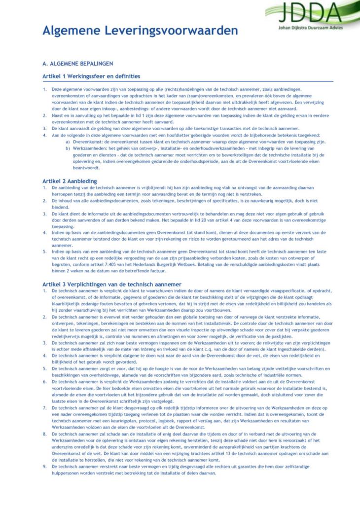 algemene voorwaarden JDDA-1